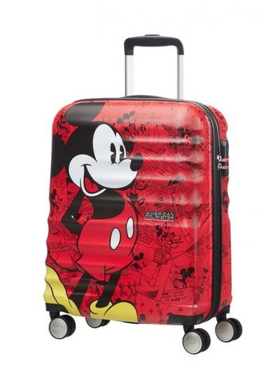АТ 4-wheel 55cm Spinner suitcase Wavebreaker Mickey Comics Red - Product Comparison
