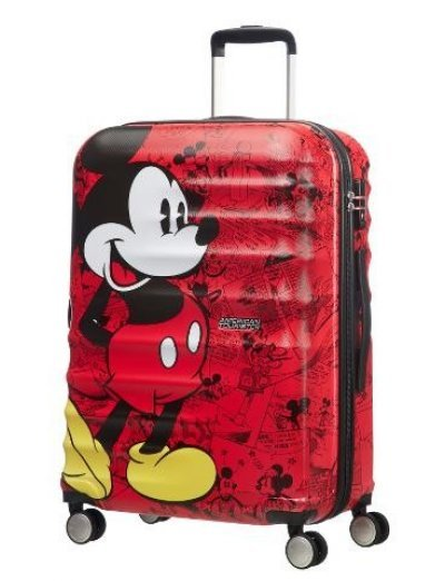 АТ 4-wheel 77cm Spinner suitcase Wavebreaker Mickey Comics Red - Kids' suitcases