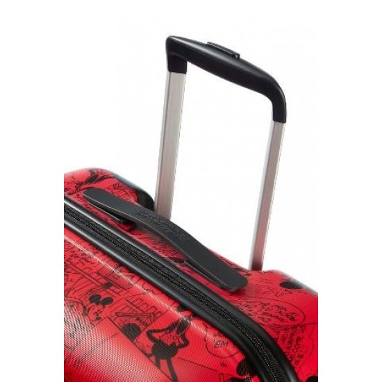 АТ 4-wheel 77cm Spinner suitcase Wavebreaker Mickey Comics Red