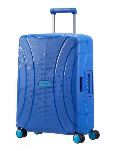 Lock'N'Roll 4-wheel Spinner suitcase 55cm Skydiver Blue - Product Comparison