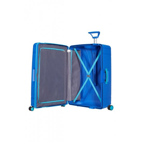 Lock'N'Roll 4-wheel Spinner suitcase 69cm Skydiver Blue