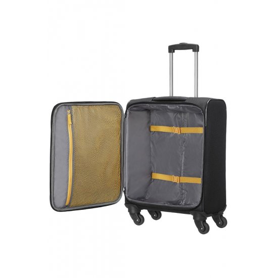 San Francisco 4-wheel cabin baggage Spinner suitcase 55x40x20cm Black