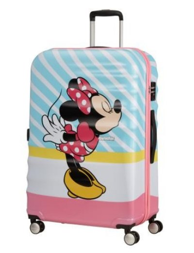 АТ 4-wheel 77cm Spinner suitcase Wavebreaker MINNIE PINK KISS - Kids' suitcases