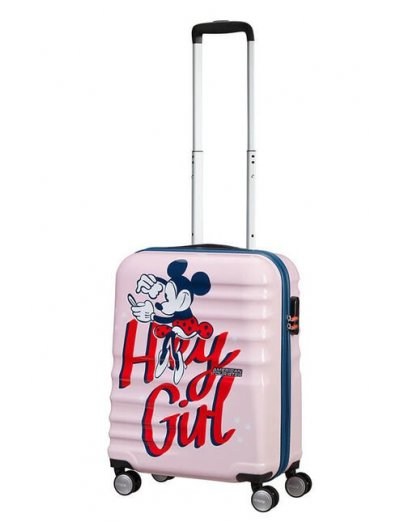 АТ 4-wheel 55cm Spinner suitcase Wavebreaker MINNIE DARLING PINK - Product Comparison