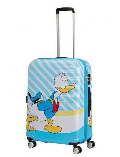 АТ 4-wheel 67cm Spinner suitcase Wavebreaker DONALD BLUE KISS - Product Comparison