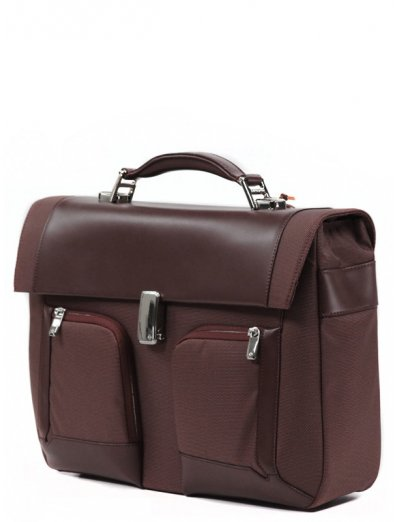 Business briefcase 1 Gusset S-Teem for 15.4 - Men's leather bags