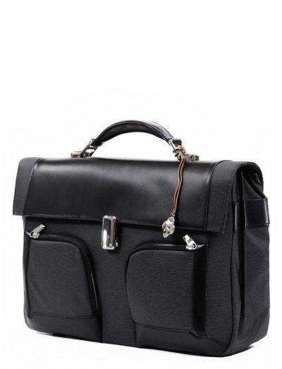 Business briefcase 2 Gussets S-Teem for 16.4 - Men's leather bags