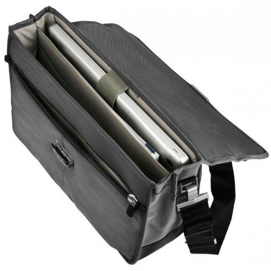 Бизнес компютърна чанта с 2 прегради Avior за 16 инча лаптоп черен цвят