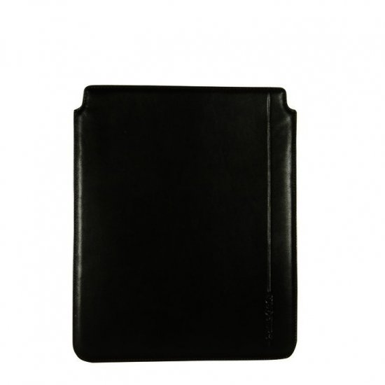 Black iPad case from Full leather