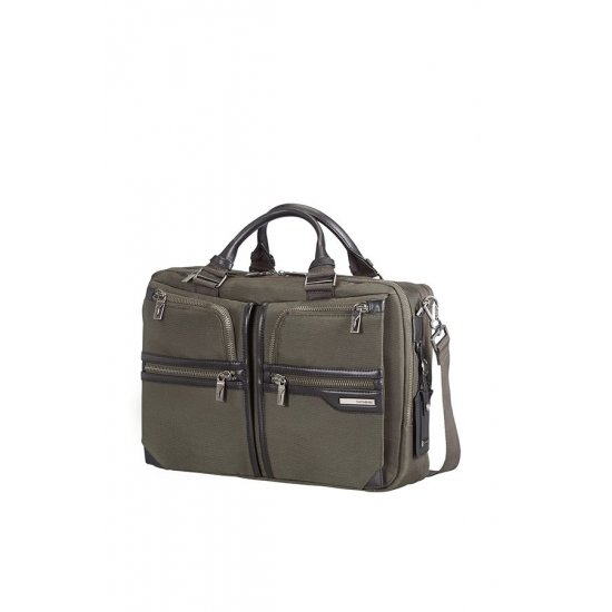 GT Supreme Bailhandle with 2 Compartments Expandable 39.6cm/15.6″ Dark Olive/Black