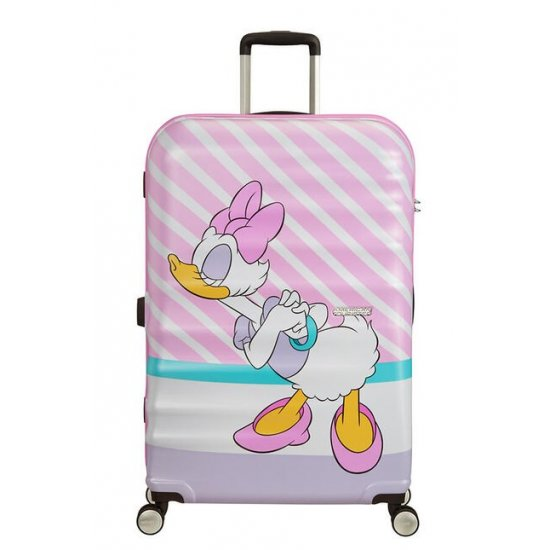 АТ 4-wheel 77cm Spinner suitcase Wavebreaker DAISY PINK KISS