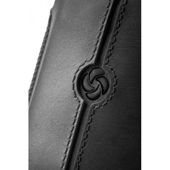 Black case iPhone 5 made of Full leather size XL Dezir Swirl