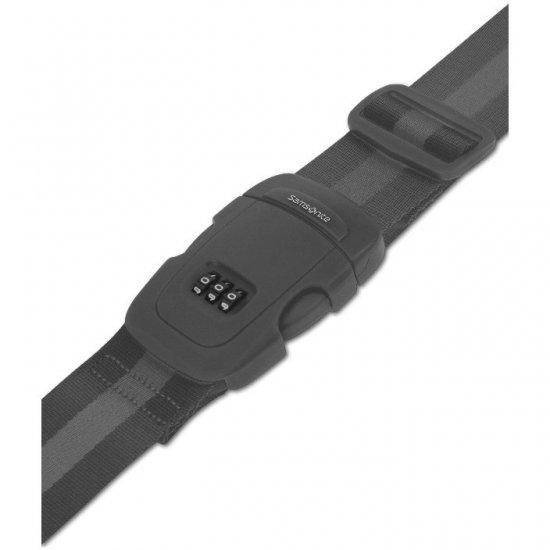 Черен колан за пристягане на багаж с трицифрен код