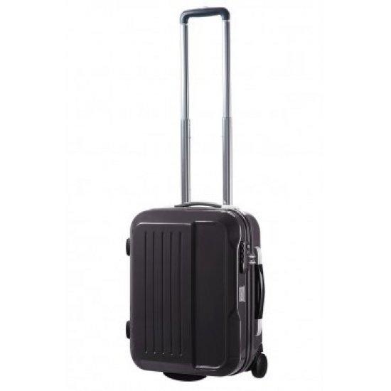 Черен куфар на 2 колела Alfa Cube 50cm