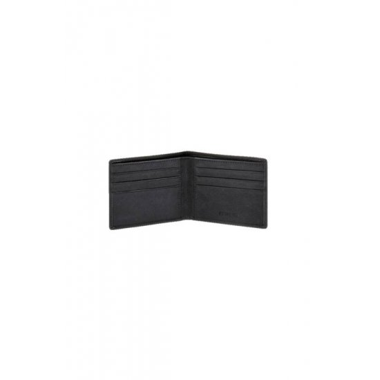 Black Man's wallet, full leather U82.09.005
