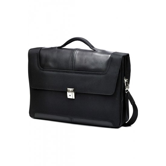 Black Briefcase Gusset 15.6
