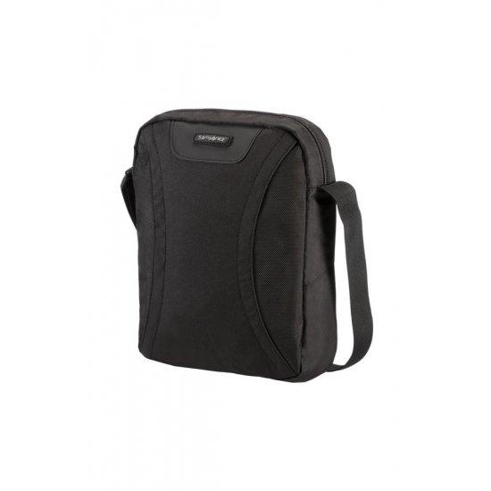 Черна чанта за през рамо за таблет