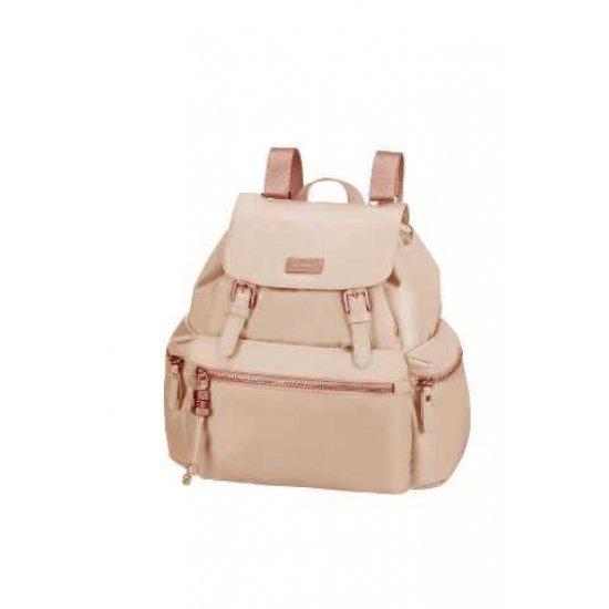 Karissa Backpack 1 front pocket & 2 side pockets light pink
