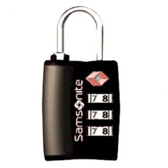 Черно TSA Kатинарче за багаж с троен шифър