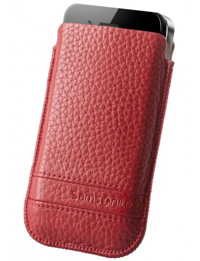 Red case for a phone made of Full leather M Slim Classic leather - Product Comparison
