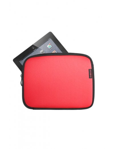 Red Laptop Sleeve type folder for an iPad 9.7 - Tablet cases 9'-10'