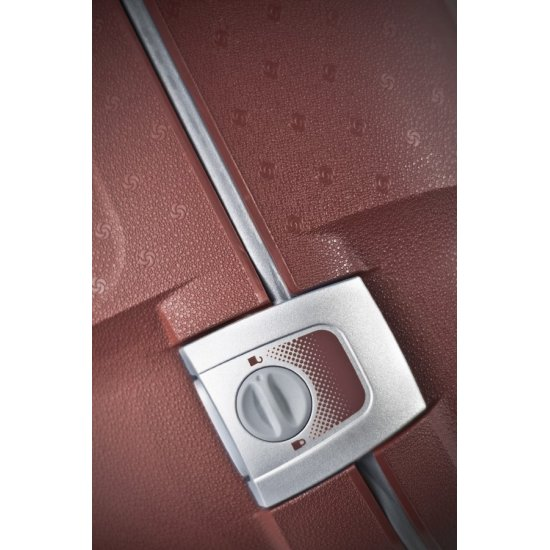 Червен куфар на 2 колела Aeris Comfort 64cm