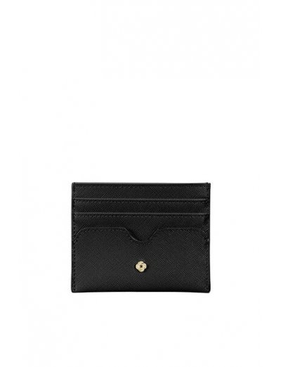 Wavy Slg Credit Card Holder Black - Accessories