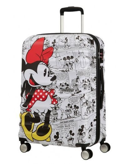 АТ 4-wheel 67cm Spinner suitcase Wavebreaker MINNIE COMICS WHITE - Product Comparison