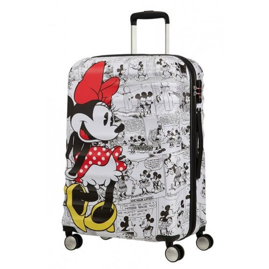 АТ 4-wheel 67cm Spinner suitcase Wavebreaker MINNIE COMICS WHITE