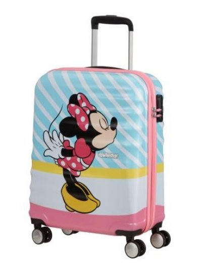 АТ 4-wheel 55cm Spinner suitcase Wavebreaker MINNIE PINK KISS - Product Comparison