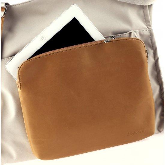 Ladie's shoulder business bag Lady Biz II tobacco color
