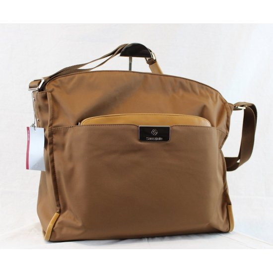 Дамска бизнес чанта за 14,1 инча лаптоп Lady Biz II цвят тютюн