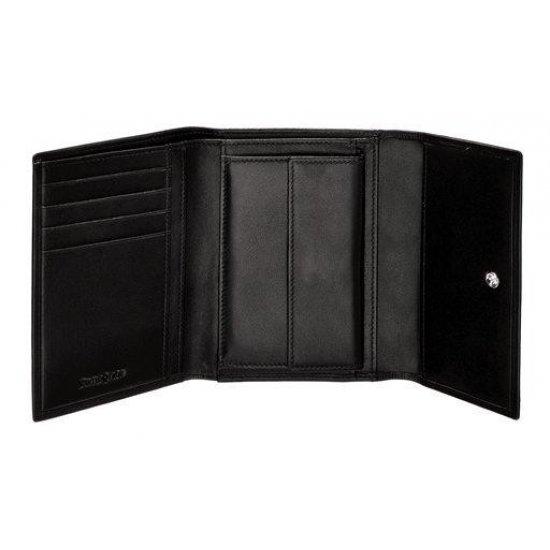Ladie's Black Wallet Full Leather, model F68.09.301