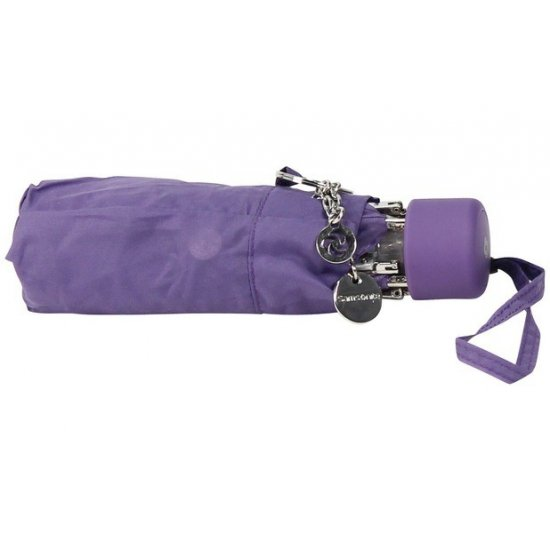 Дамски ръчен чадър в лилав цвят