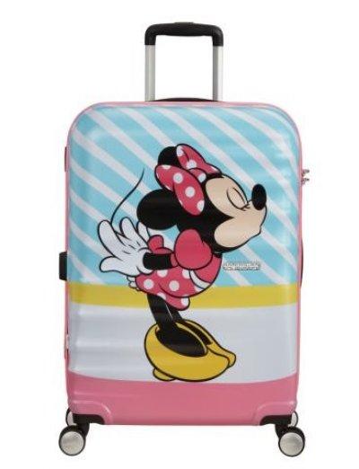 АТ 4-wheel 67cm Spinner suitcase Wavebreaker MINNIE PINK KISS - Wavebreaker Disney
