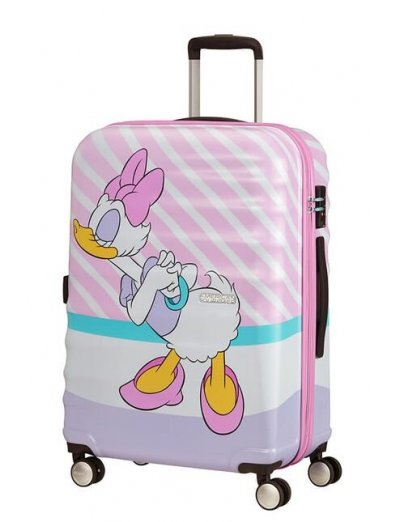 АТ 4-wheel 67cm Spinner suitcase Wavebreaker DAISY PINK KISS - Kids' suitcases