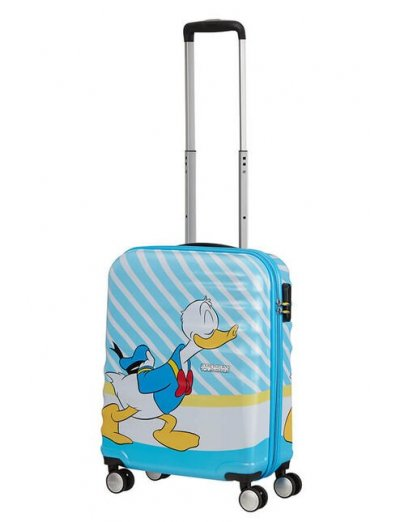 АТ 4-wheel 55cm Spinner suitcase Wavebreaker DONALD BLUE KISS - Hardside suitcases