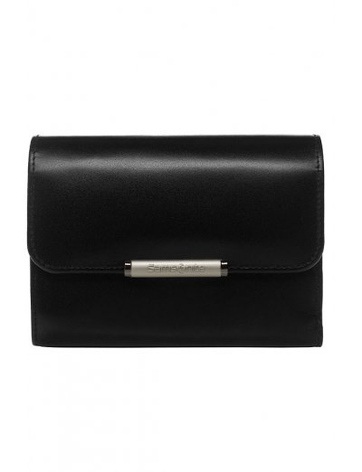 Elegant black women's wallet from full leather with 4 sections for business cards, series U88.09.301 - Product Comparison