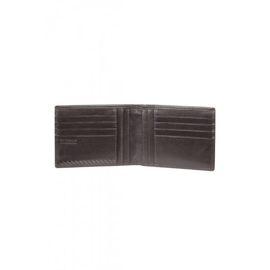 Black Wallet 100% Leather S-Derry SLG,10V.09.109