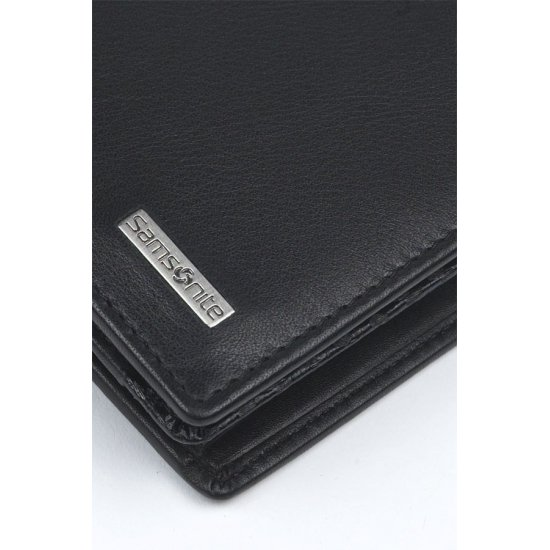 Black Wallet 100% Leather S-Derry SLG, 10V.09.124