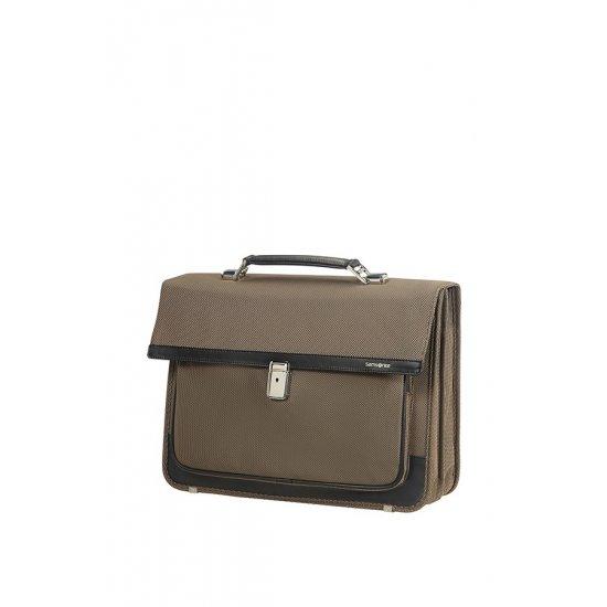 Fairbrook Briefcase 2 Gussets 39.6cm/15.6″ Bronze/Black