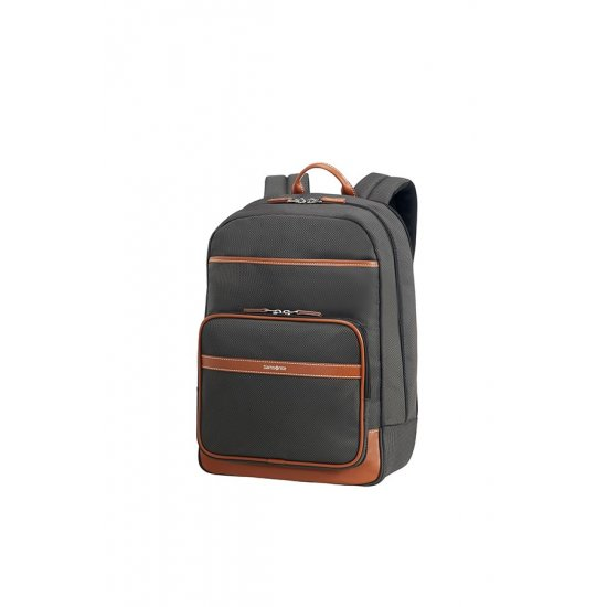 Fairbrook Laptop Backpack 39.6cm/15.6″ Black/Cognac