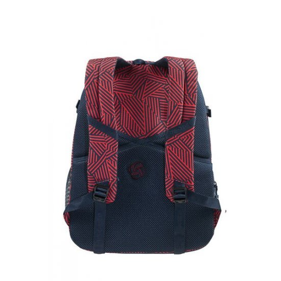 Rewind Laptop Backpack L Expandable 16inch Capri Red Stripes