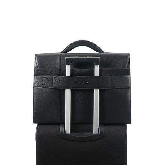 Formalite Lth Briefcase 2 Gussets 39.6cm/15.6″ Black
