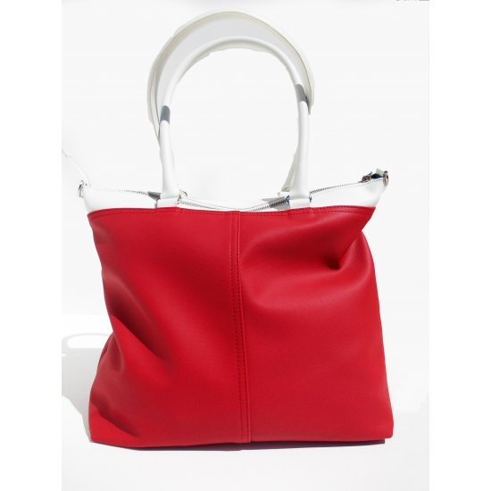 Large Women's Baihandle Park Icon in bright red and white