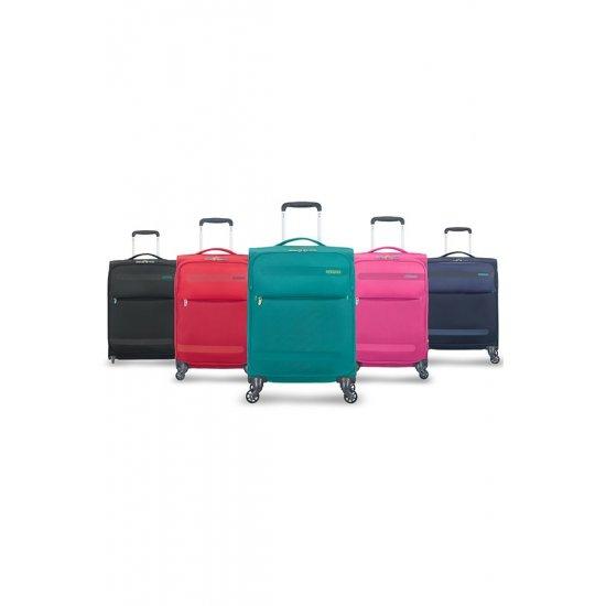 Herolite 4-wheel 74cm medium spinner suitcase Volcanic Black