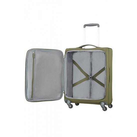 Herolite 4-wheel Spinner suitcase 55 cm Khaki