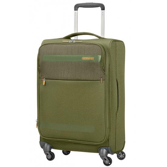 Herolite 4-wheel Spinner suitcase Expandable 55 cm Khaki