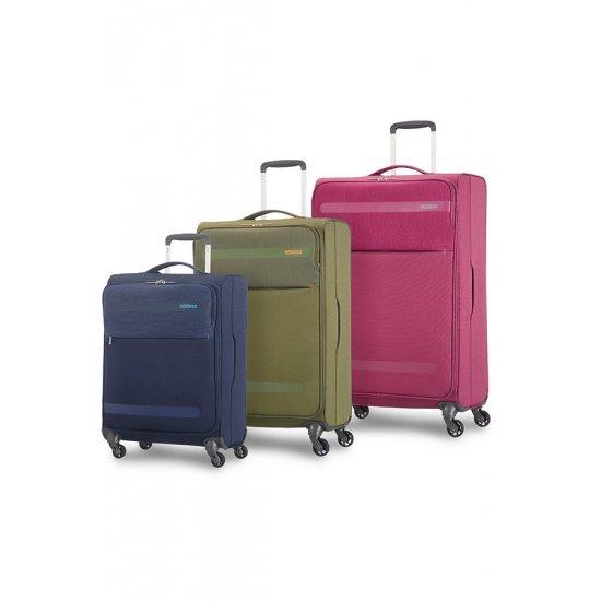 Herolite 4-wheel Spinner suitcase Expandable 55 cm Pomegranate