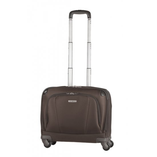 Brown business suitcase on 4 wheels X'ion3 16